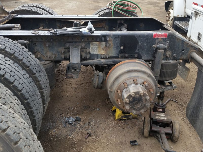 Truck suspension repair leaf spring replacement